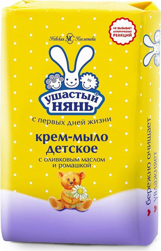 Ушастый нянь Крем-мыло детское с оливковым маслом и ромашкой 90 г мыло ушастый нянь с ромашкой 4шт х 100 г