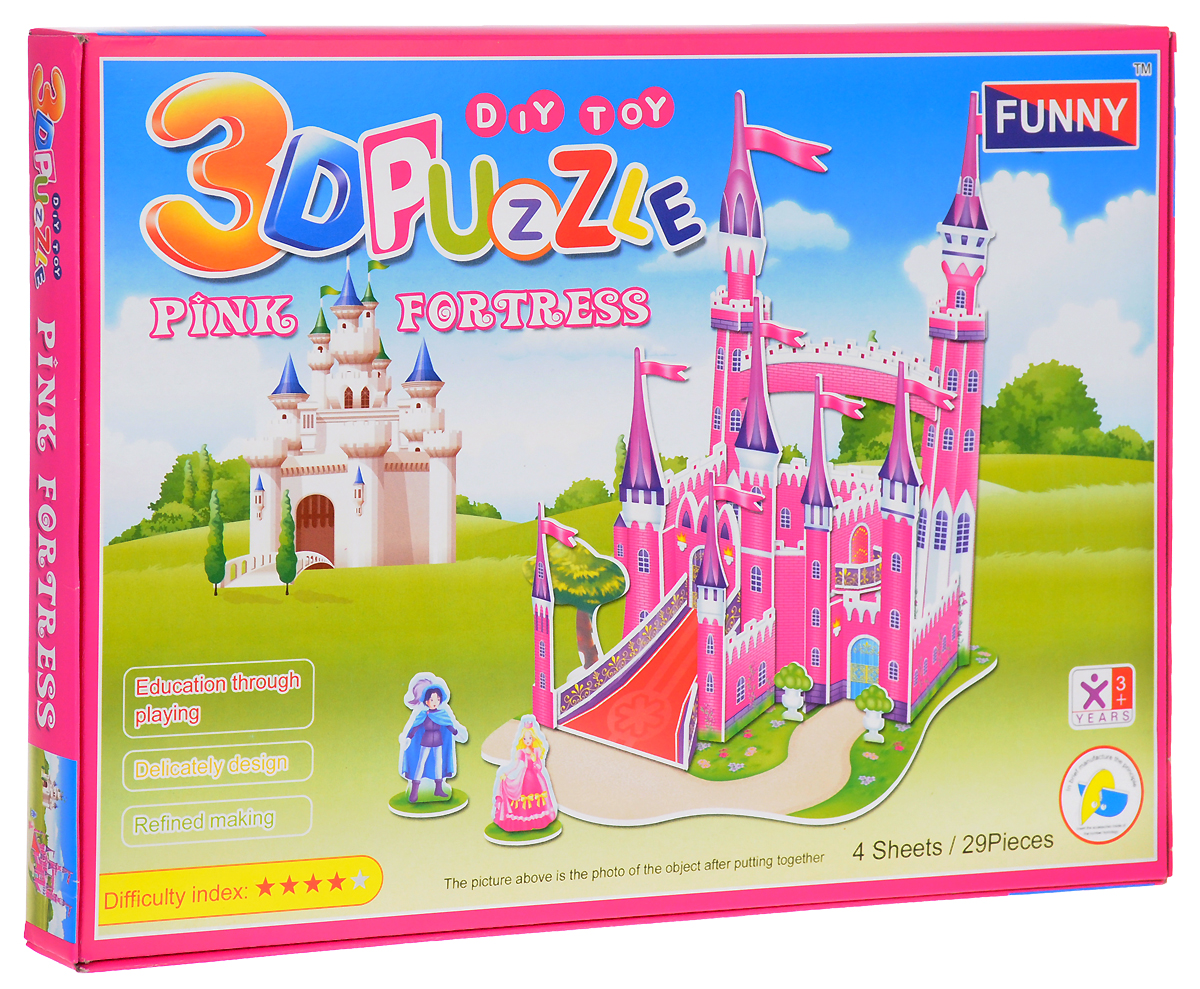 Funny 3D Пазл Розовый Замок