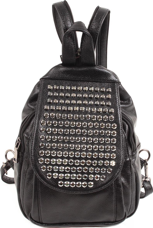 Рюкзак женский Flioraj, цвет: черный. 8212-54 рюкзак женский flioraj цвет серый 9806 1605 106