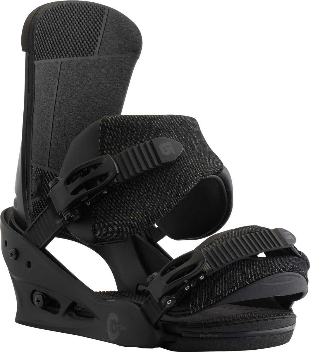 Крепление для сноуборда Burton Custom Black Matte, цвет: черный. Размер M