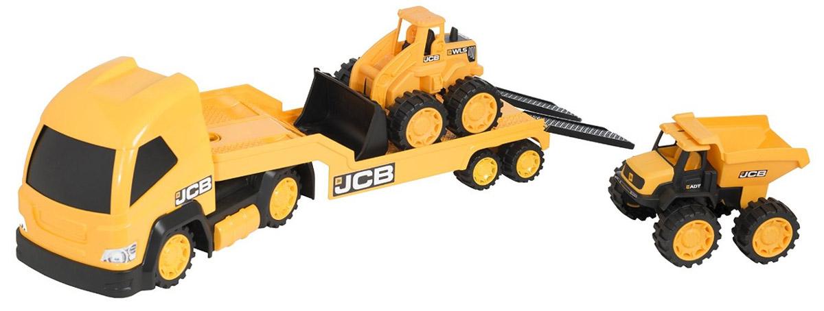 HTI Транспортер со строительной техникой JCB
