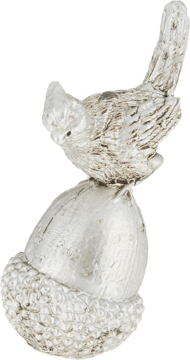Фигурка декоративная Magic Home Птичка на желуде, цвет: бронзовый, 8,2 х 3,8 х 3,3 см статуэтки и фигурки home philosophy фигурка nelly цвет бронзовый 17х8х23 см