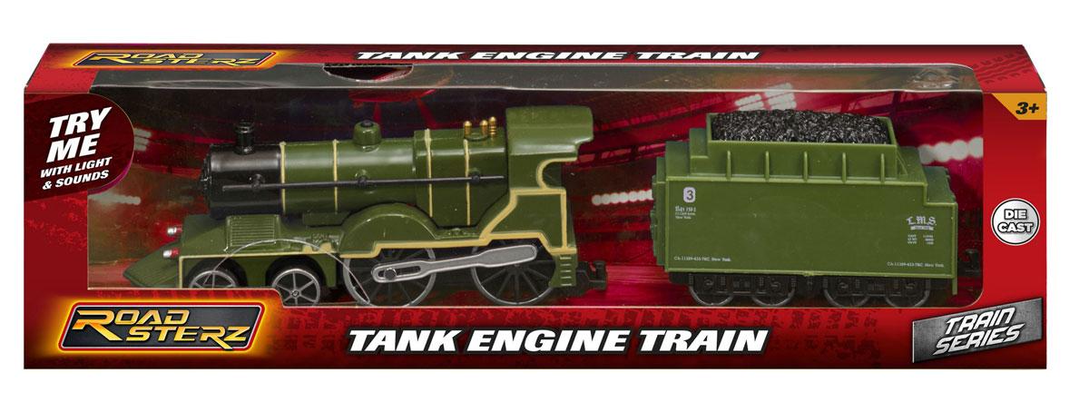 HTI Локомотив Roadsterz с вагоном цвет зеленый машины hti машинка roadsterz пожарная