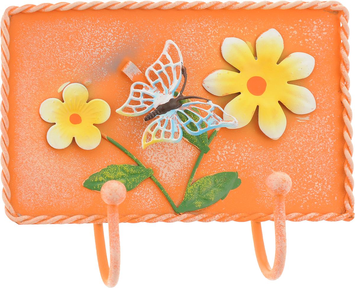 Вешалка-крючок Magic Home, двойной, цвет: оранжевый. 43887 вешалка крючок magic home двойной цвет оранжевый 43887