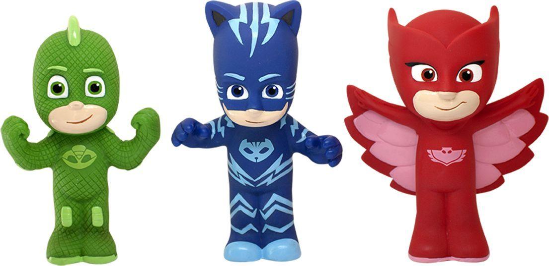 Герои в масках Игрушки для ванной Кэтбой, Гекко и Алетт герои в масках фигурка гекко 8 см