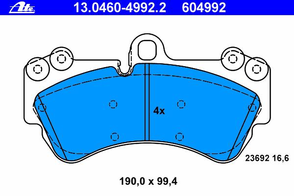 Колодки тормозные дисковые Ate 13046049922 колодки тормозные дисковые ate 13046070792