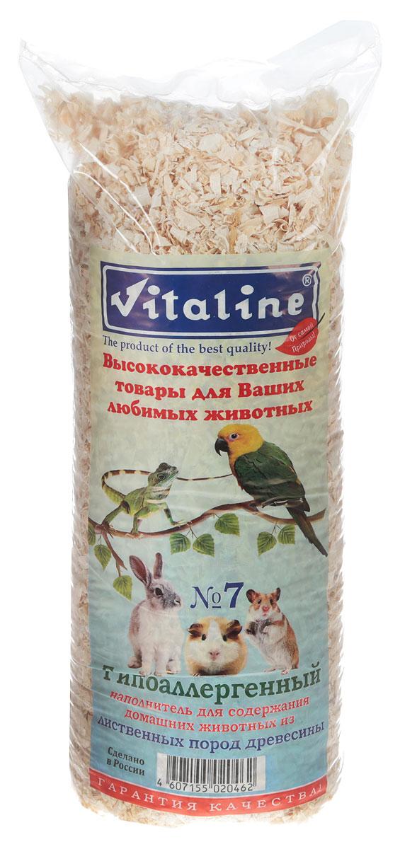 Наполнитель для грызунов Vitaline Гипоалергенный №7, древесный, 14,7 л опилки для животных найси 15 л