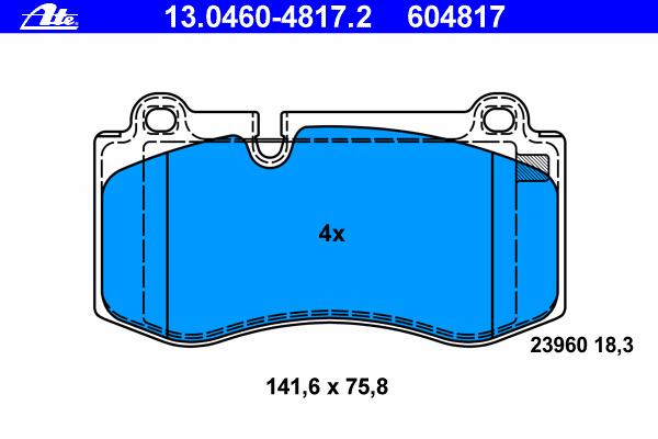 Колодки тормозные дисковые Ate 13046048172, передние агломерат мотоцикл передние дисковые тормозные колодки пригодный для swm 440 серебряная ваза 2015 и до