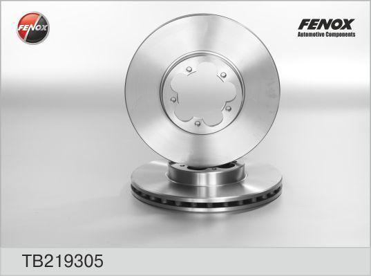 Тормозной диск Fenox TB219305, передний, вентилируемый, комплект 2 шт тормозной диск fenox tb219353 задний вентилируемый