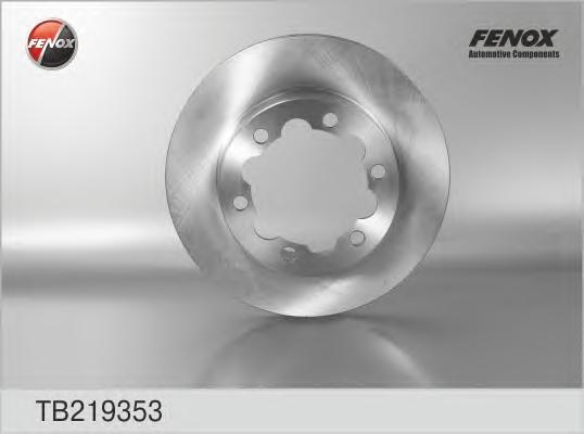 Тормозной диск Fenox TB219353, задний, вентилируемый тормозной диск fenox tb219353 задний вентилируемый