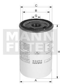 Масляный фильтр Mann-Filter LB95020 фильтр масляный comaro 01 01 70032