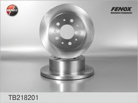 Тормозной диск Fenox TB218201, задний, комплект 2 шт тормозной диск fenox tb219353 задний вентилируемый