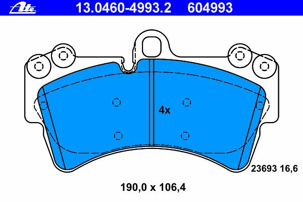Колодки тормозные дисковые Ate 13046049932, передние агломерат мотоцикл передние дисковые тормозные колодки пригодный для swm 440 серебряная ваза 2015 и до
