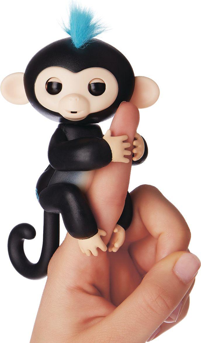 Fingerlings Интерактивная игрушка Обезьянка Финн цвет: черный, 12 см