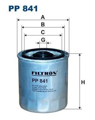 Топливный фильтр Filtron PP841 топливный фильтр filtron pp8371