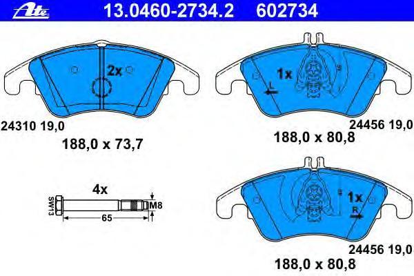 Колодки тормозные дисковые Ate 13046027342, передние агломерат мотоцикл передние дисковые тормозные колодки пригодный для swm 440 серебряная ваза 2015 и до