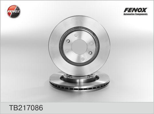 Тормозные диски Fenox TB217086 тормозной диск fenox tb219353 задний вентилируемый
