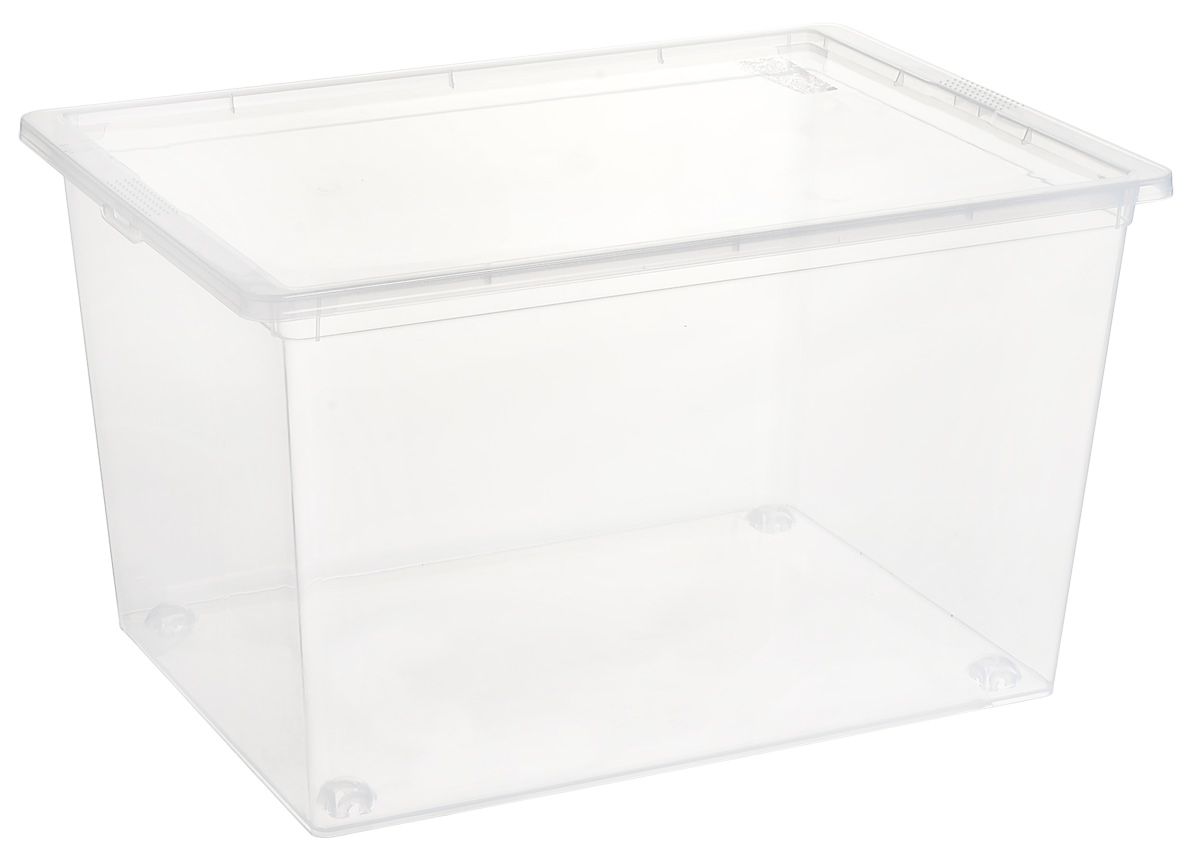 Ящик Idea, цвет: прозрачный, 50 л, 53 х 37 х 30 смМ 2354Ящик Idea выполнен из прочного пластика и предназначен для хранения различных предметов. Вместительный ящик плотно закрывается при помощи крышки. Вместительный ящик позволит сохранить нужные вещи в чистоте и порядке, а герметичная крышка предотвратит случайное открывание, защитит содержимое от пыли и грязи. Размер ящика (с учетом крышки): 37 х 53 см х 30 см. Объем ящика: 50 л. Рекомендуем!