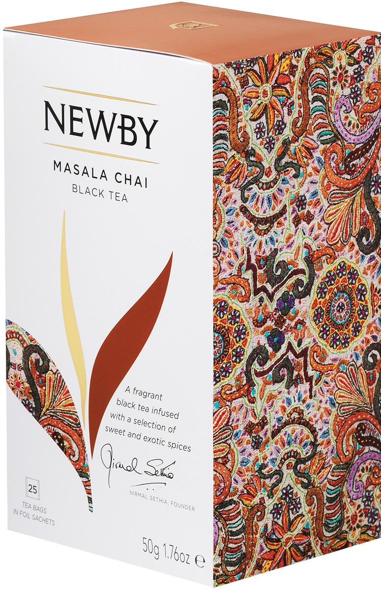 цены на Newby Masala Chai черный чай со специями в пакетиках, 25 шт  в интернет-магазинах