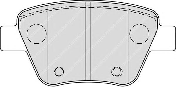 Колодки тормозные Ferodo Premier, дисковые. FDB4316 колодки тормозные ferodo premier дисковые fdb1621
