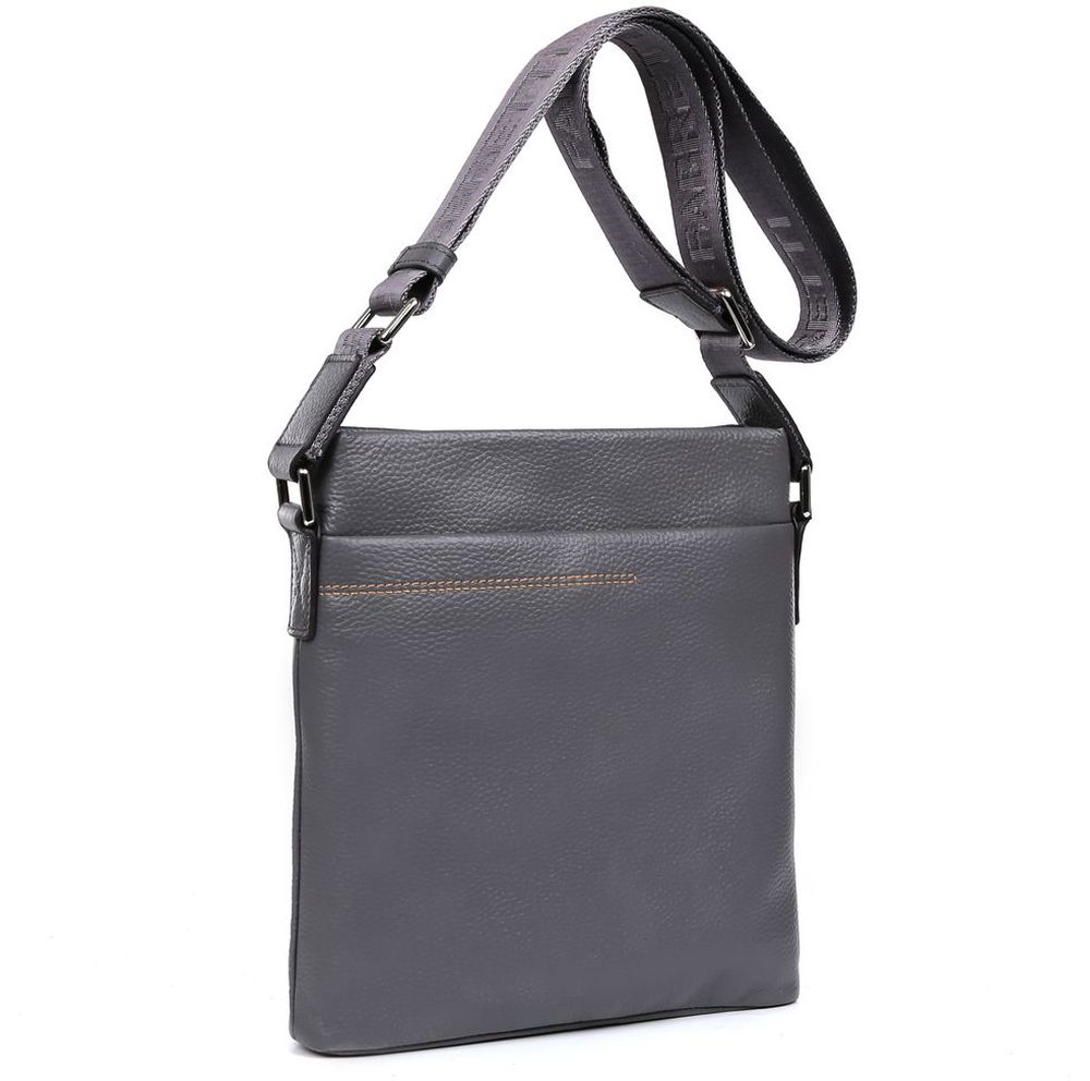 купить Сумка-планшет мужская Fabretti, цвет: серый. B327 по цене 6270 рублей