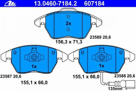 Колодки тормозные дисковые Ate 13046071842 колодки тормозные дисковые ate 13046070792