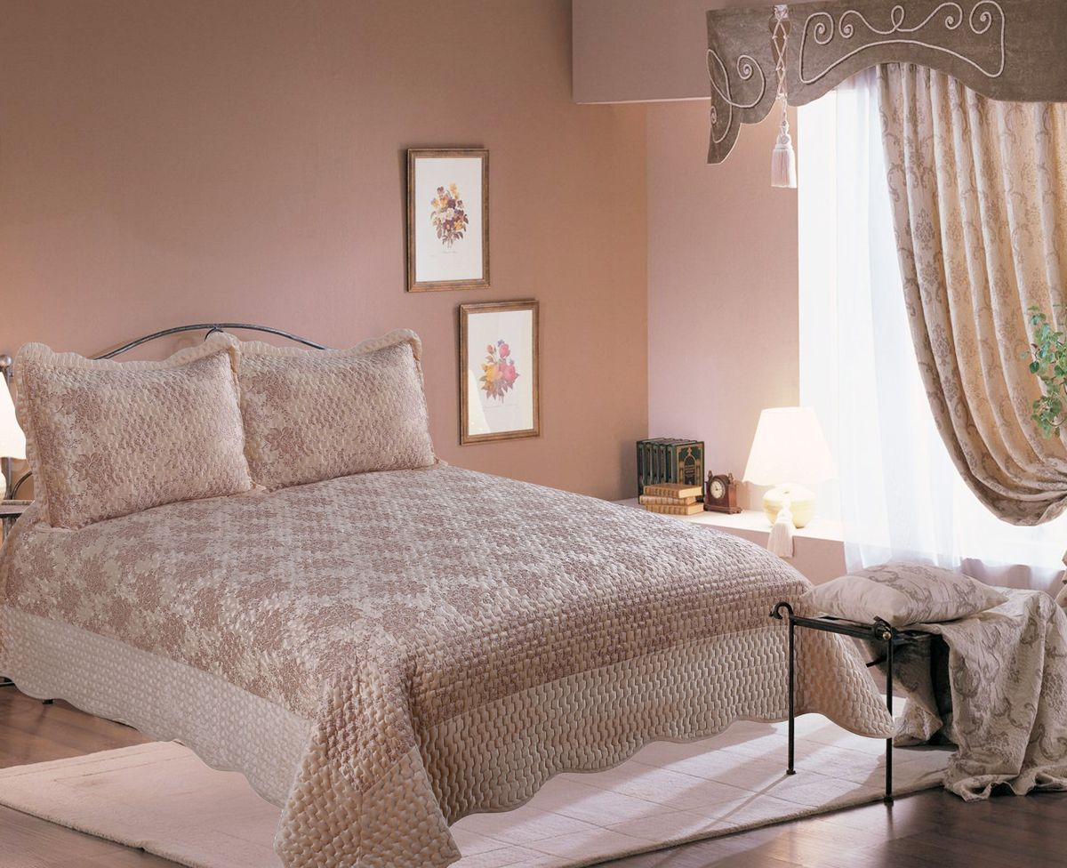 "Комплект для спальни Amore Mio ""Turin"": покрывало 220 х 240 см, наволочка,"