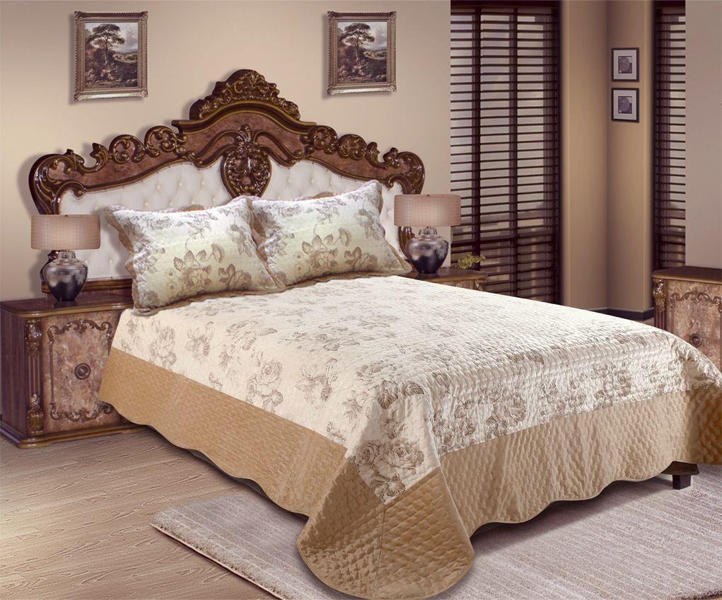 """Комплект для спальни Amore Mio """"Paris"""": покрывало 220 х 240 см, наволочка"""