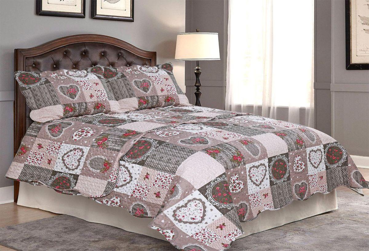 "Комплект для спальни ""Amore Mio"": покрывало 170 х 220 см, наволочка 50 х 70 см. 85654"