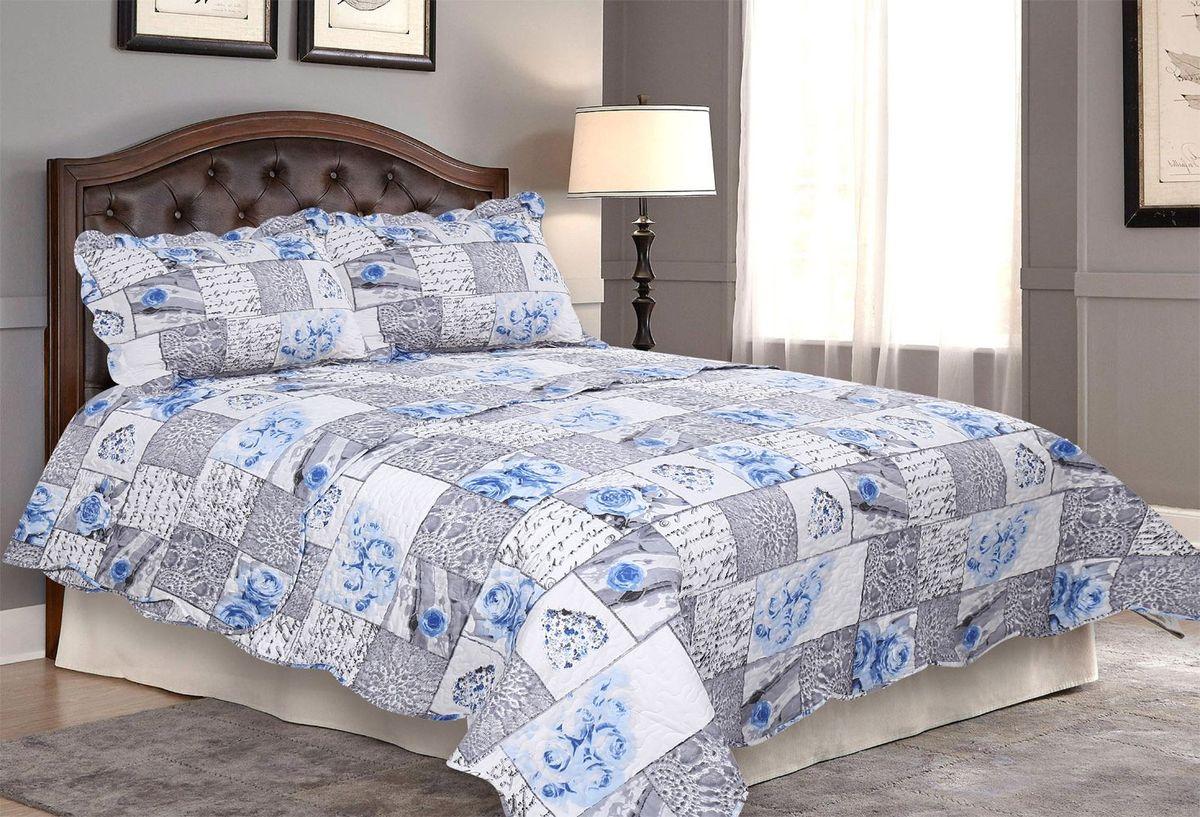 "Комплект для спальни ""Amore Mio"": покрывало 230 х 250 см, 2 наволочки. 85660"