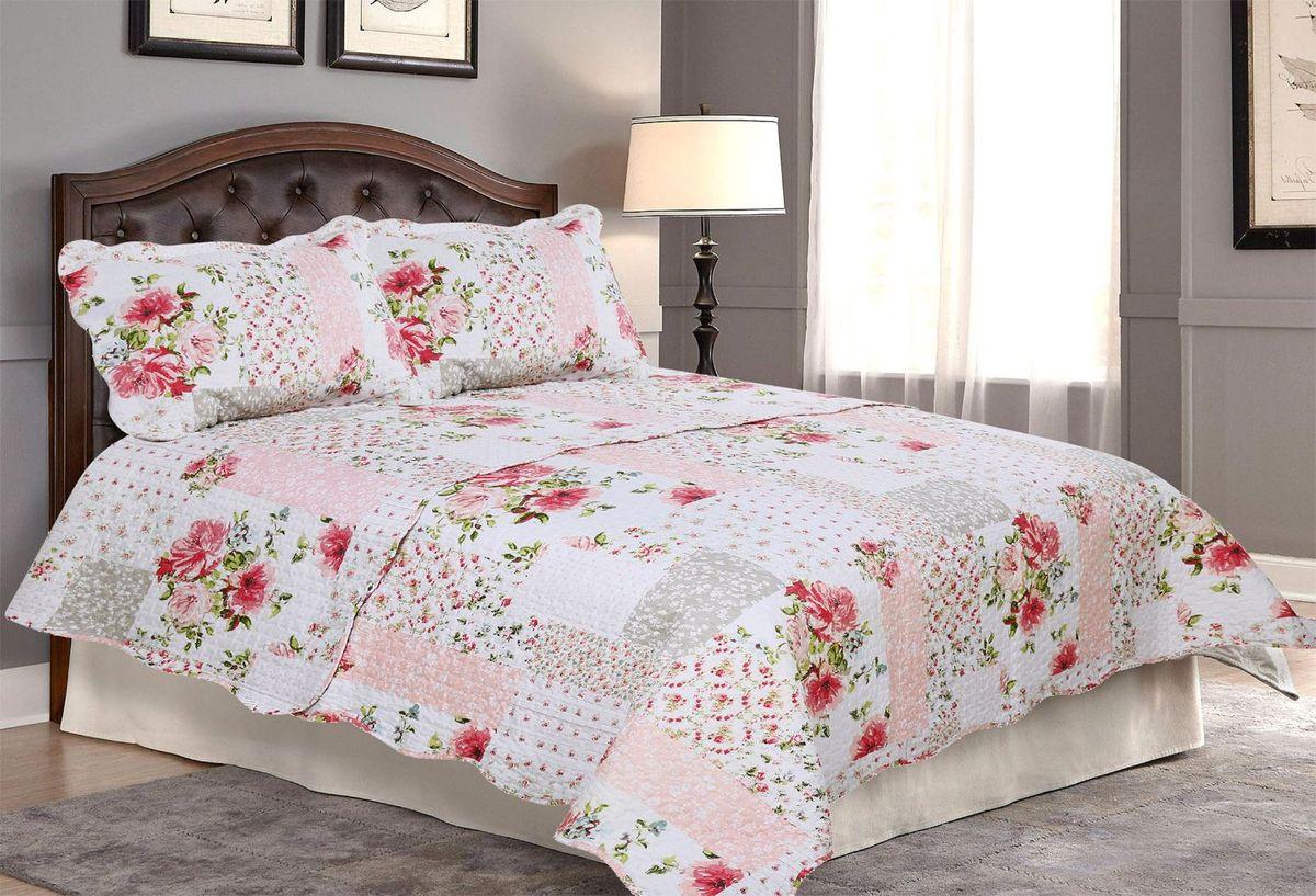 "Комплект для спальни ""Amore Mio"": покрывало 230 х 250 см, 2 наволочки. 85662"