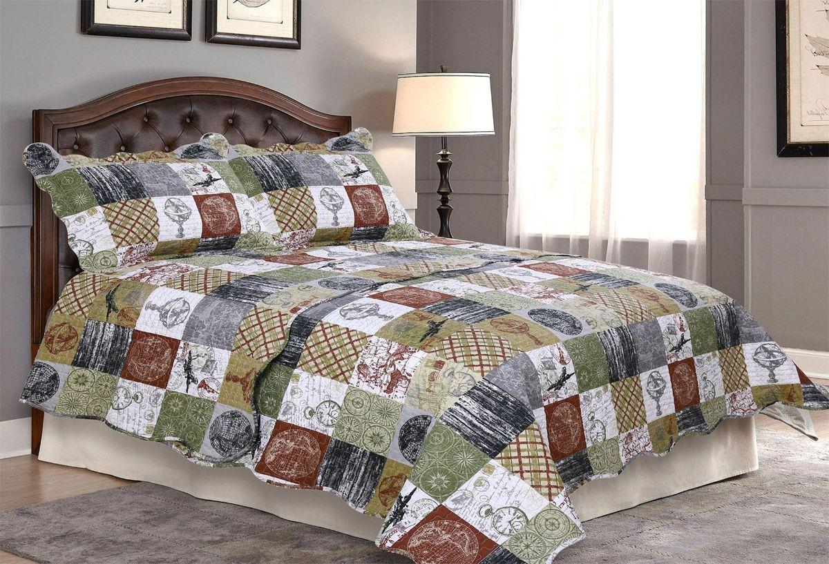 "Комплект для спальни ""Amore Mio"": покрывало 230 х 250 см, 2 наволочки. 85665"