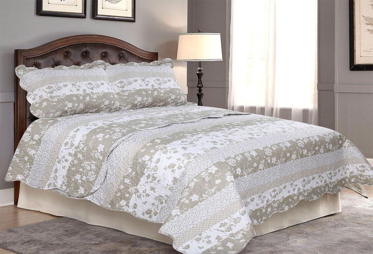 "Комплект для спальни ""Amore Mio"": покрывало 230 х 250 см, 2 наволочки. 85669"