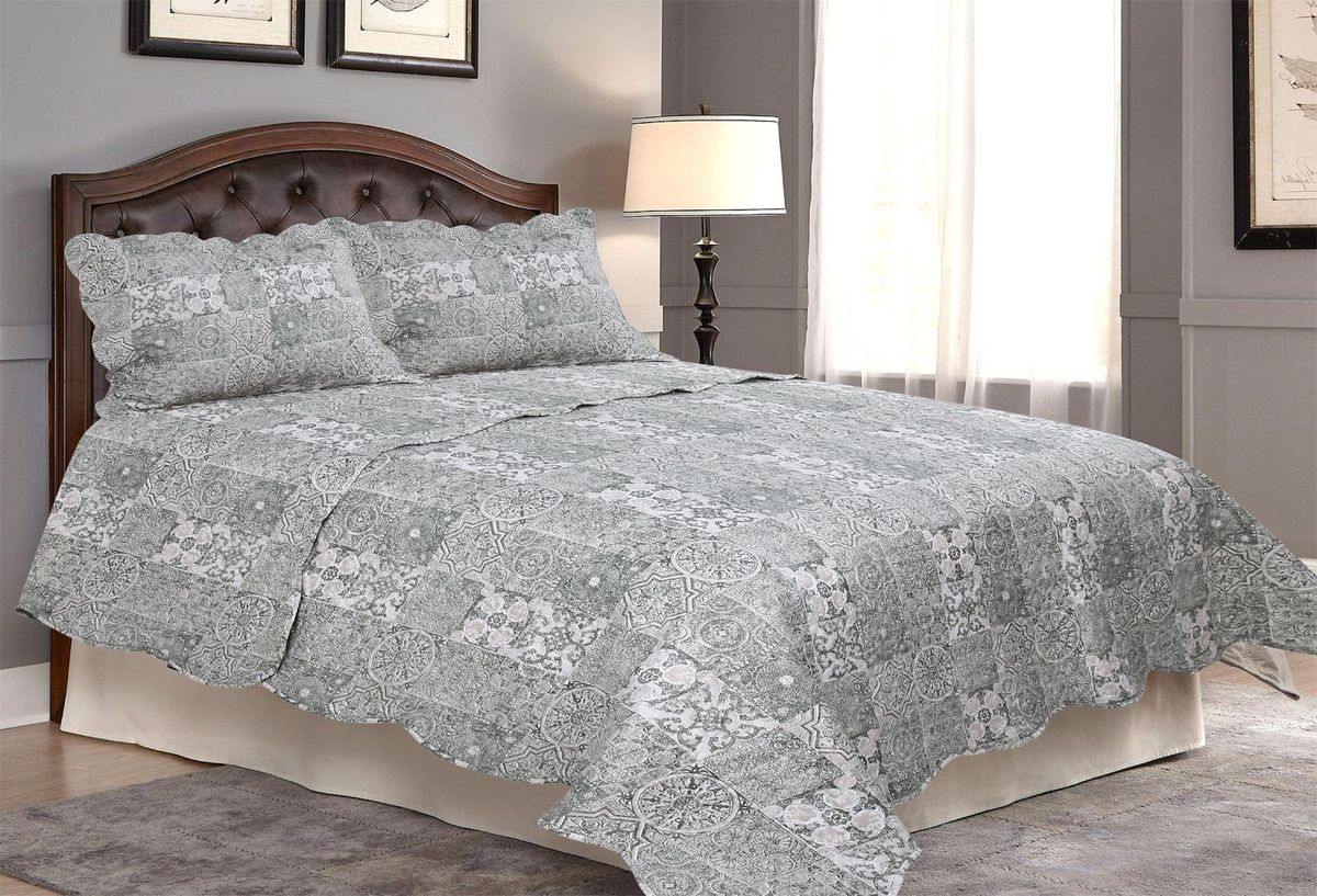"Комплект для спальни ""Amore Mio"": покрывало 230 х 250 см, 2 наволочки. 85674"
