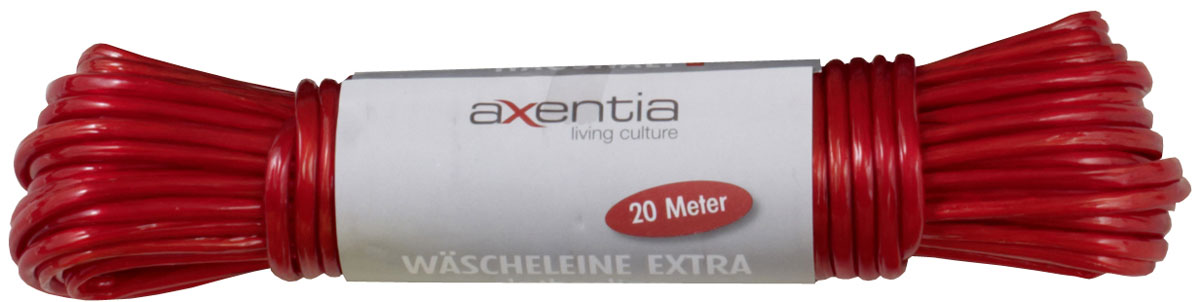 Веревка бельевая Axentia, цвет в ассортименте, длина 20 м веревка бельевая axentia цвет красный длина 30 м