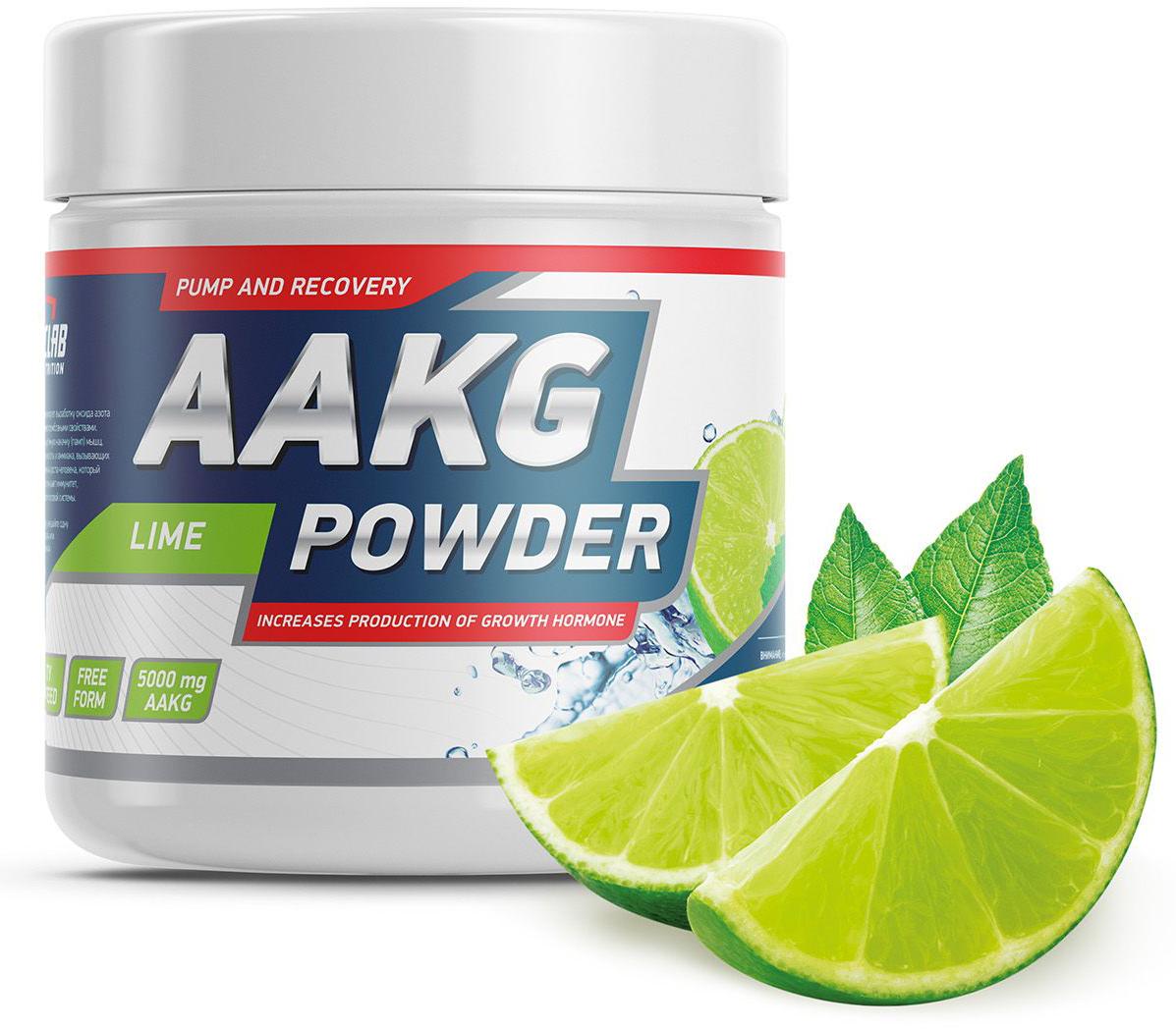 Аминокислоты Geneticlab Nutrition AAKG Powder, лайм, 150 г аминокислоты geneticlab nutrition glutamine powder без вкуса 500 г