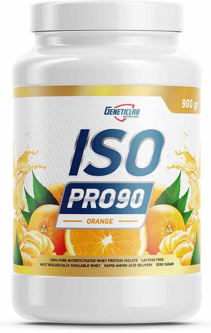 Изолят Geneticlab Nutrition Iso Pro 90, апельсин, 900 г изолят geneticlab nutrition iso pro 90 апельсин 900 г