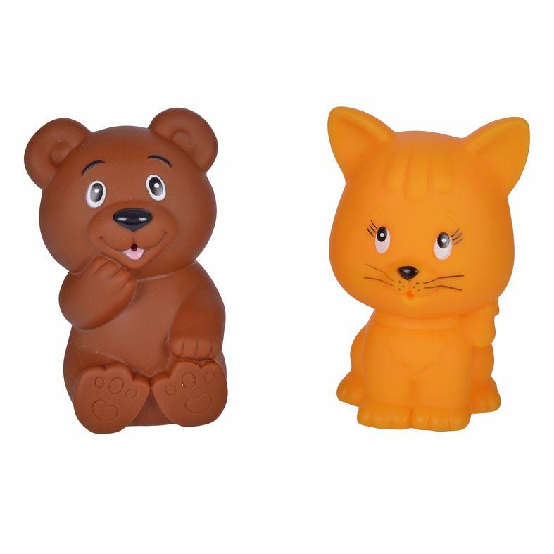 Жирафики Набор игрушек для ванной Мишка и котенок жирафики набор игрушек для ванной лошадка и свинка