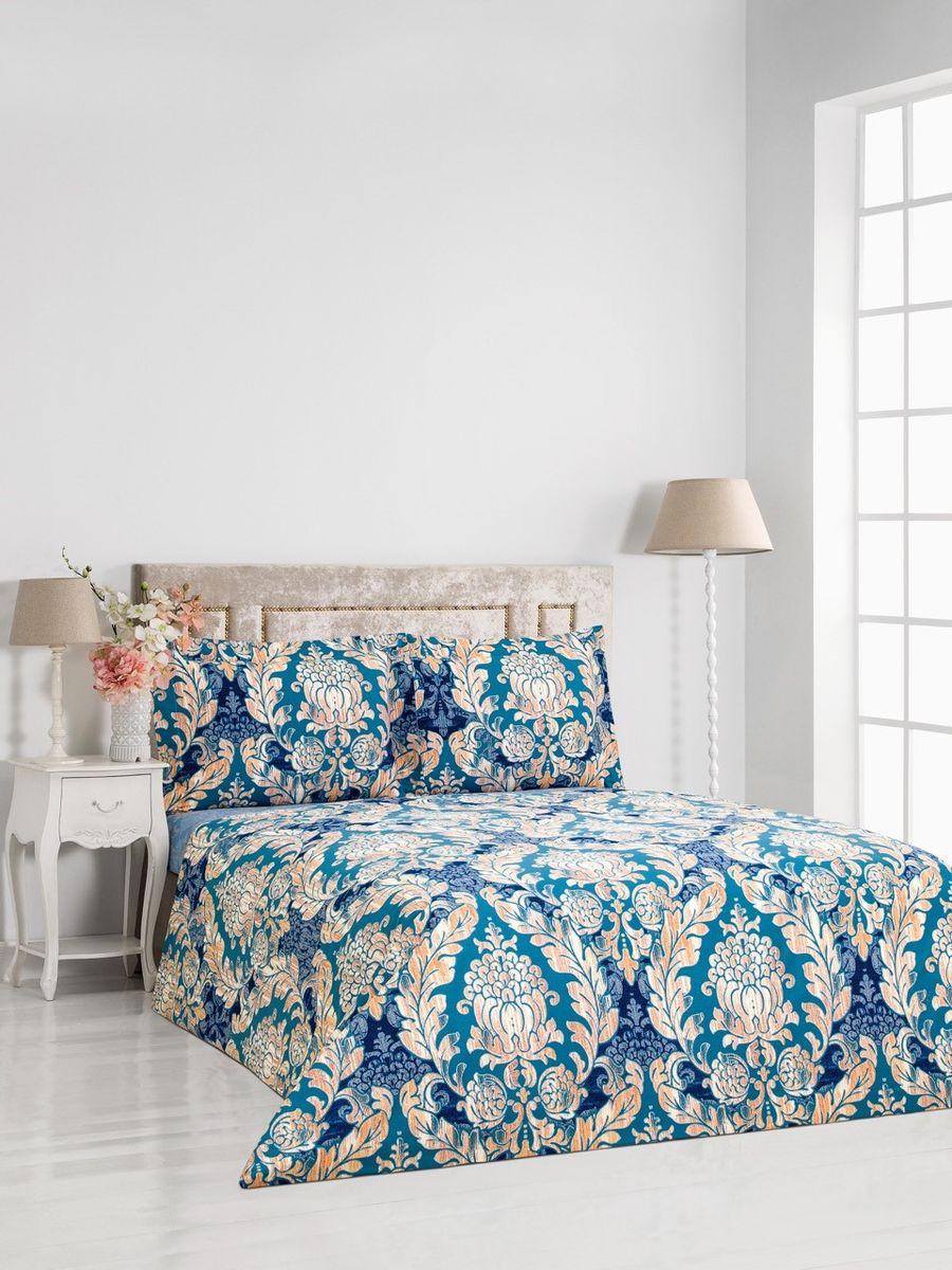 """Комплект постельного белья Сlassic by T """"Линц"""", 1,5-спальный, наволочки 50x70, цвет: синий"""