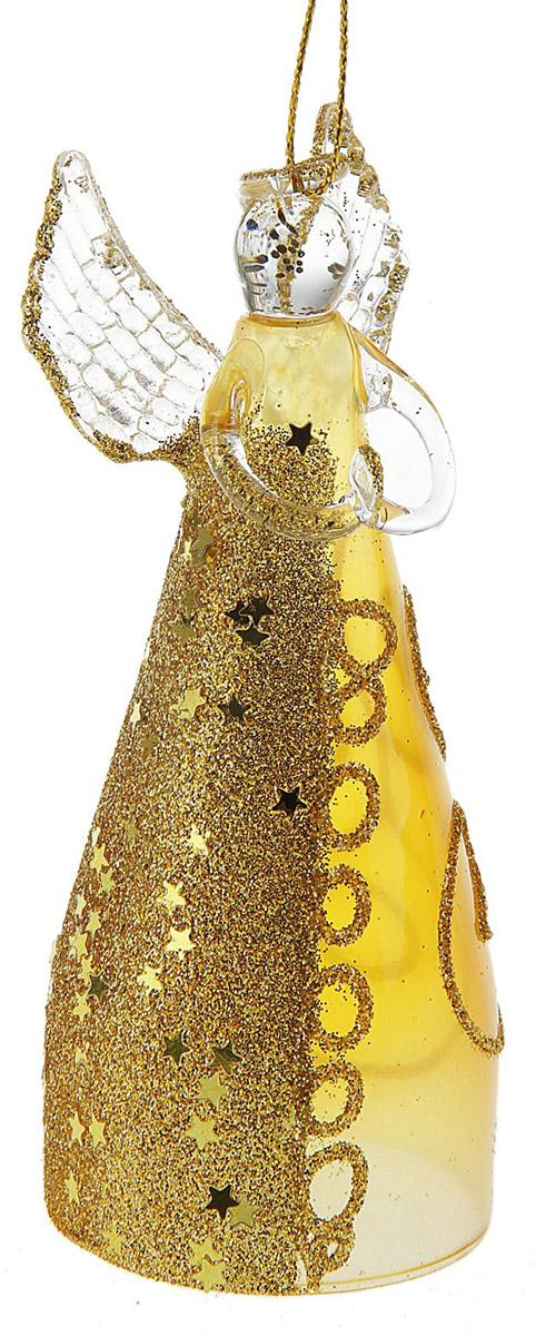 Новогоднее подвесное украшение Sima-land Ангелочек в кремовом платье, 11 х 3,5 х 5,5 см новогоднее подвесное украшение sima land зимний узор диаметр 10 см