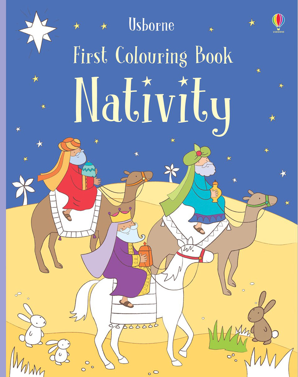 Фото - First Colouring Book Nativity the story of colour in textiles