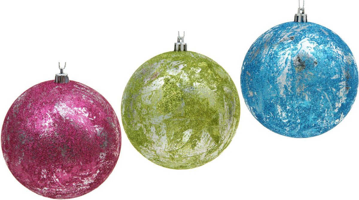 набор новогодних подвесных украшений sima land красная вставка клетка диаметр 8 см 4 шт Набор новогодних подвесных украшений Sima-land Мелодия, диаметр 10 см, 3 шт
