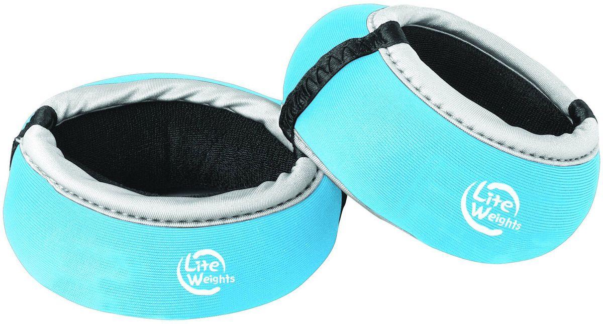Утяжелители для рук Lite Weights 5850LW, цвет: голубой, 0,5 кг, 2 шт цена