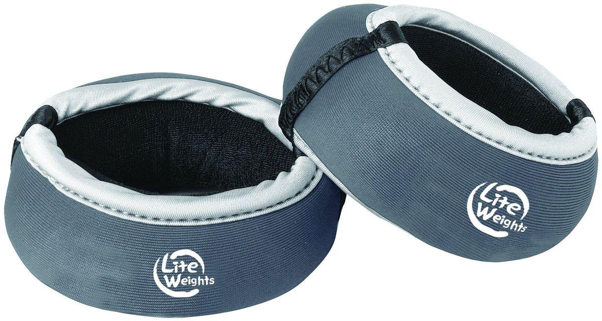 Утяжелители для рук Lite Weights 5875LW, цвет: темно-серый, 0,75 кг, 2 шт цена