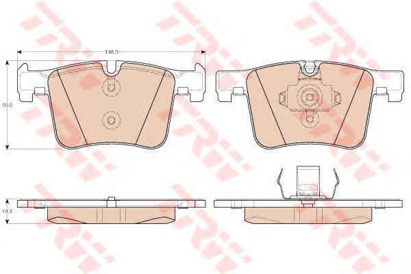 Тормозные колодки дисковые TRW/Lucas GDB1942 b1140 гуси lucas lucas lucas