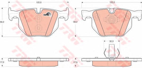 Колодки тормозные дисковые TRW/Lucas GDB1730, задние g571 пейзаж lucas lucas lucas