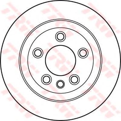 Тормозной диск TRW/Lucas DF4487S, задний тормозной диск fenox tb219353 задний вентилируемый