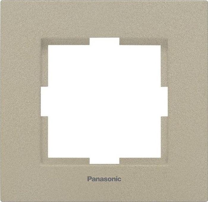 Рамка электроустановочная Panasonic Karre Plus, цвет: бронзовый, на 1 пост. 54792 рамка для розеток и выключателей горизонтальная 1 пост цвет бежевый