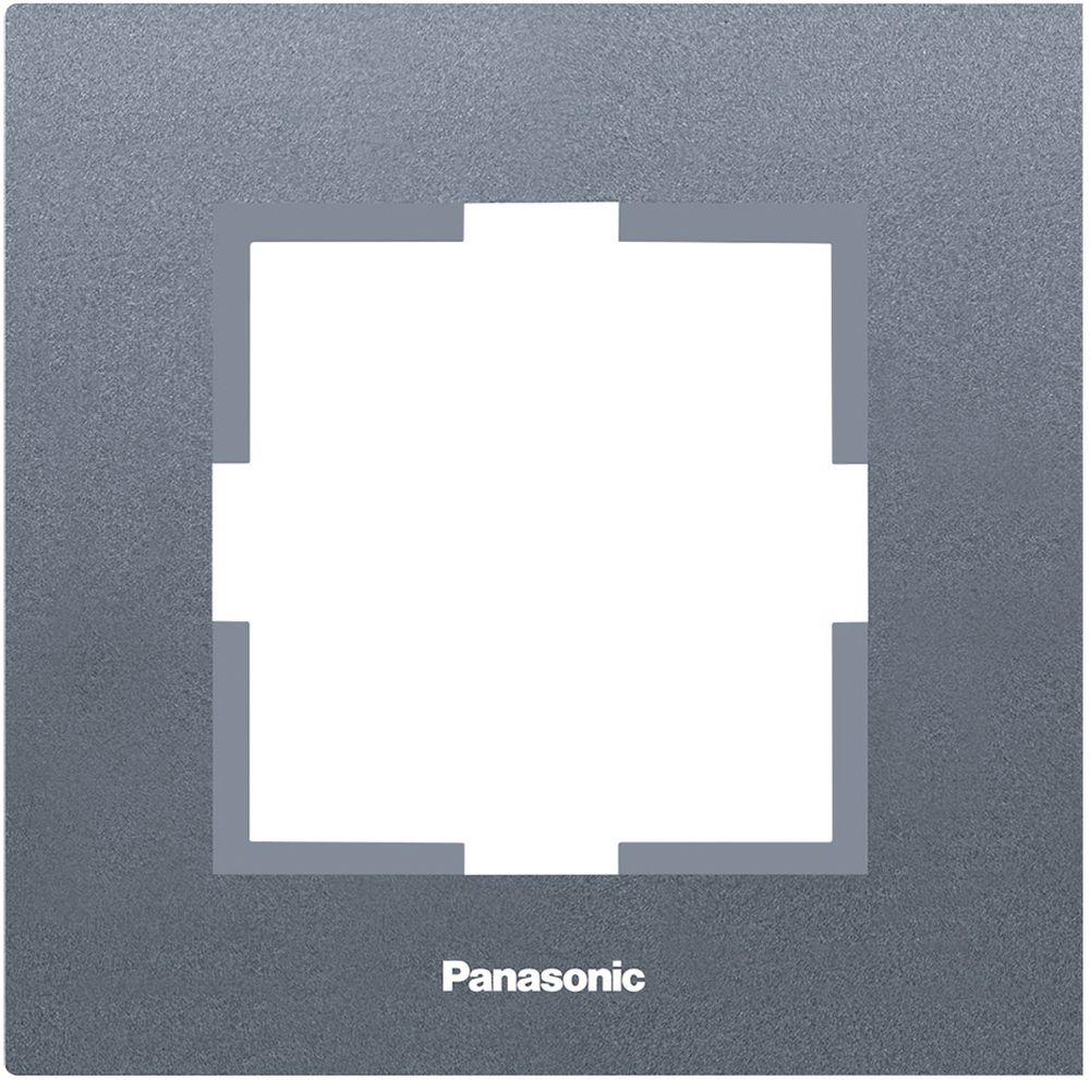 Рамка электроустановочная Panasonic Karre Plus, цвет: темно-серый, на 1 пост. 54802 рамка для розеток и выключателей горизонтальная 1 пост цвет бежевый