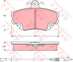 Колодки тормозные дисковые TRW/Lucas GDB400 b1120 lucas lucas lucas